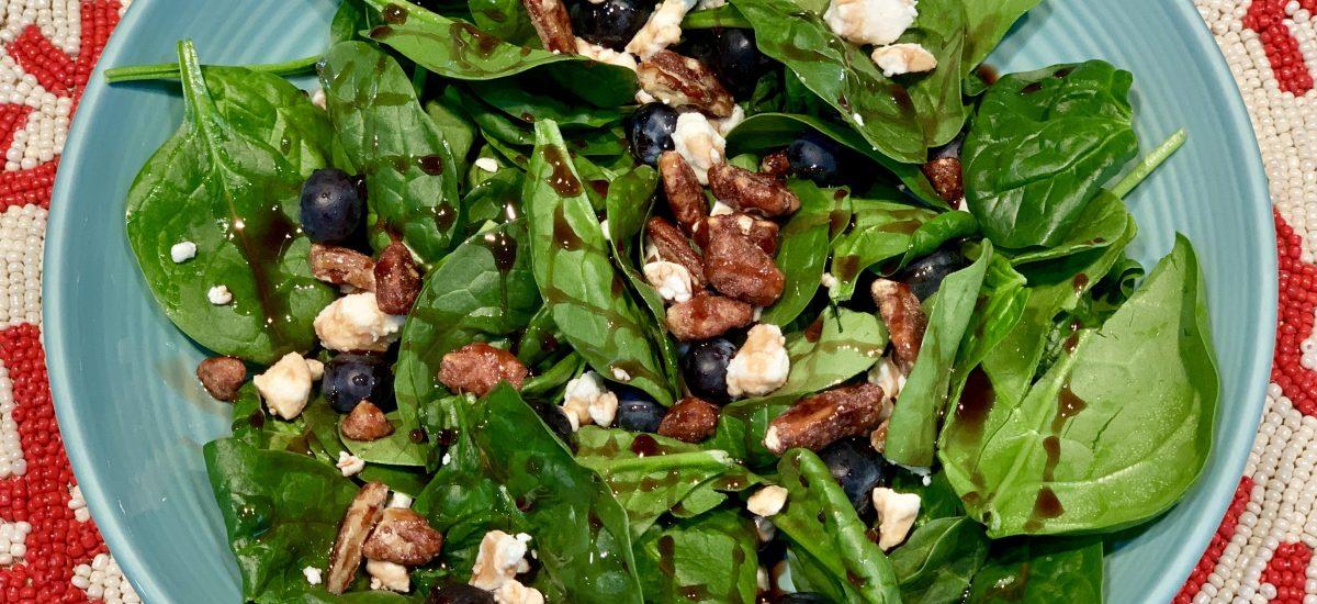 Spinach & Feta Blueberry Salad