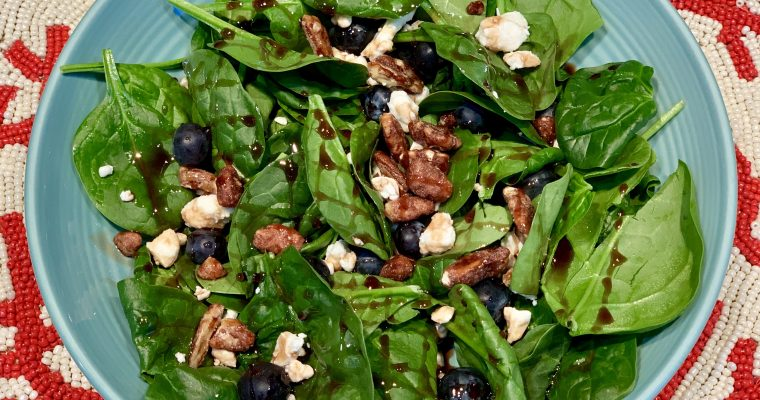 Spinach & Feta Blueberry Salad
