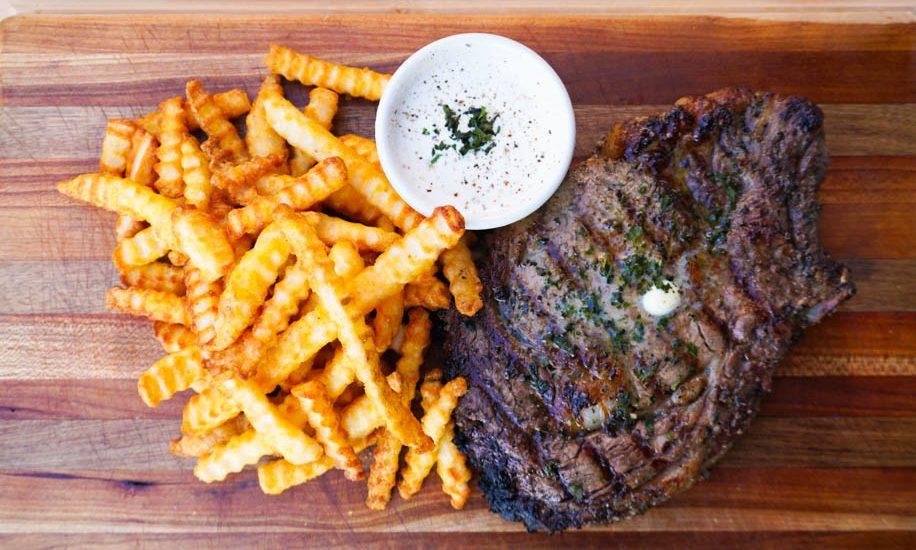 Grilled Steak with Crispy Air Fryer Fries