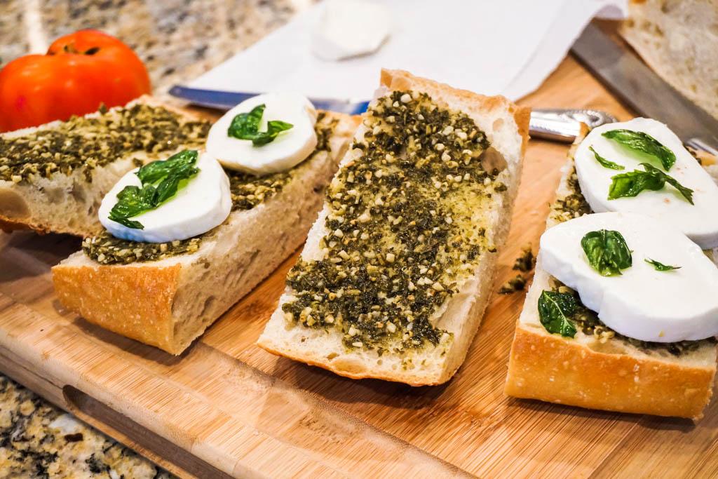 Open Caprese Grilled Sandwich