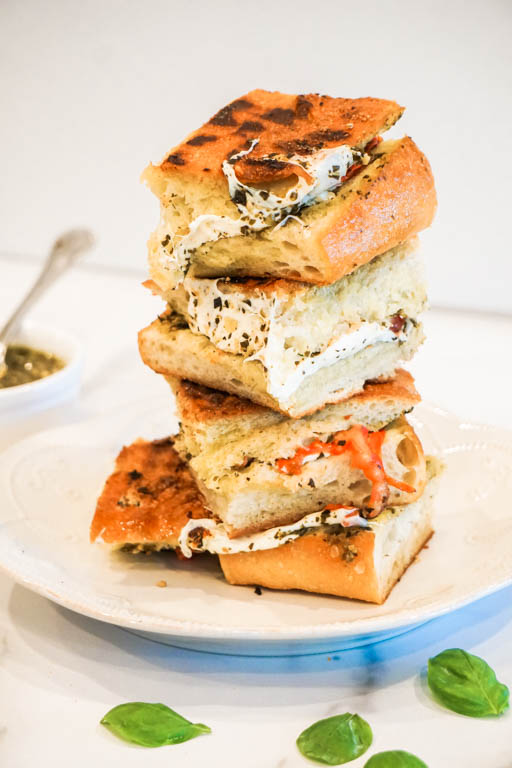 Caprese Sandwich with basil
