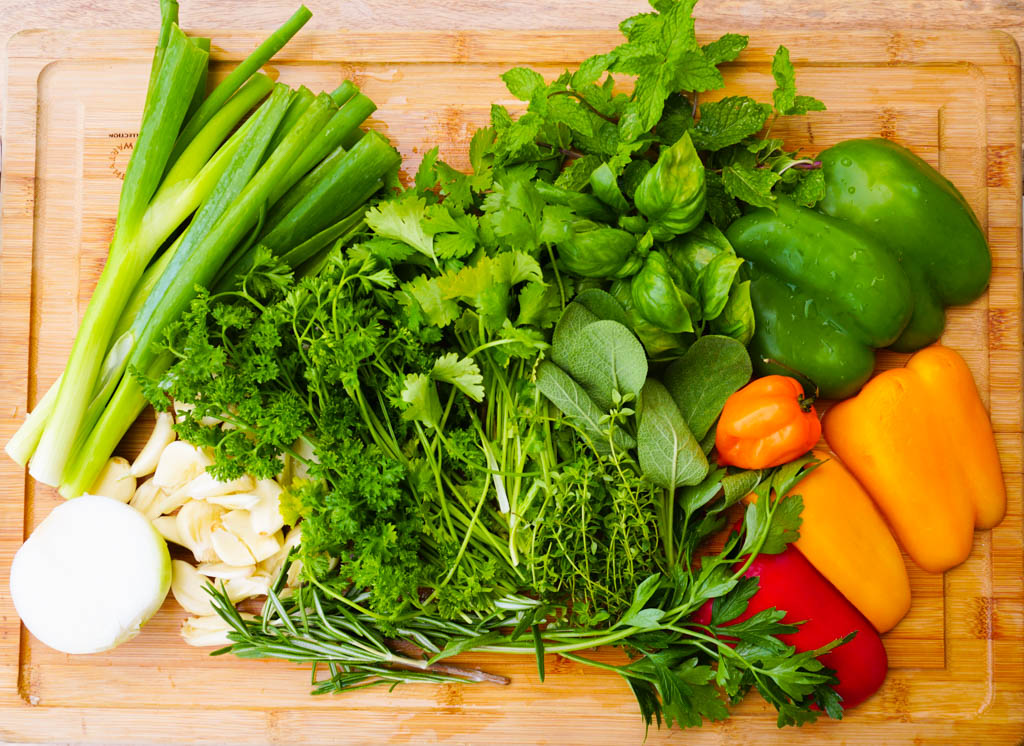 Fresh Herbs and Vegetables