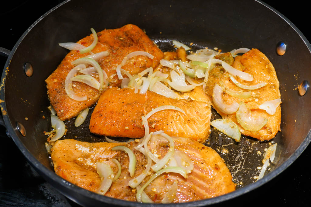 Salmon and Onions